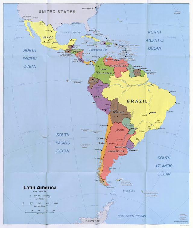 Political Map Of Latin America