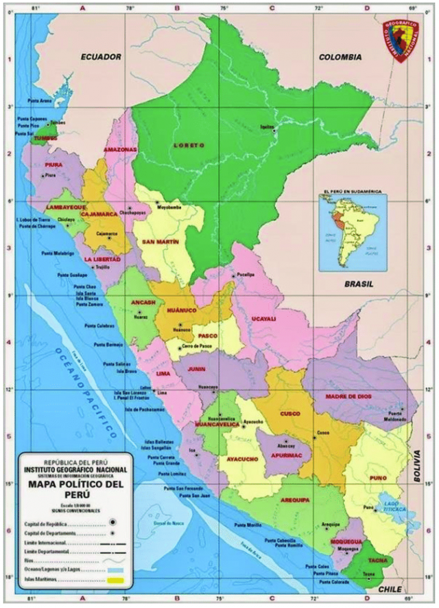 Political Map Of Peru