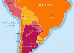 Political map of south america from alamy 5