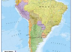 Political map of south america from mapsinternational 7