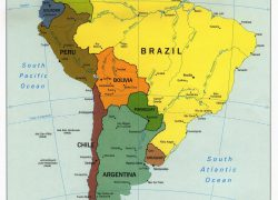 Political map of south america from vidiani 9