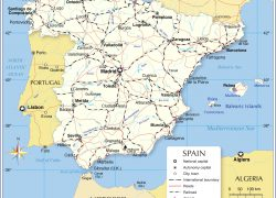 Political Map Of Spain: Political map of spain from nationsonline 1