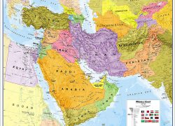 Political Map Of The Middle East: Political map of the middle east from amazon 1