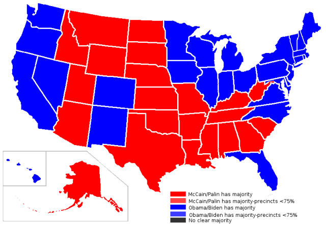 Political Map Of Us