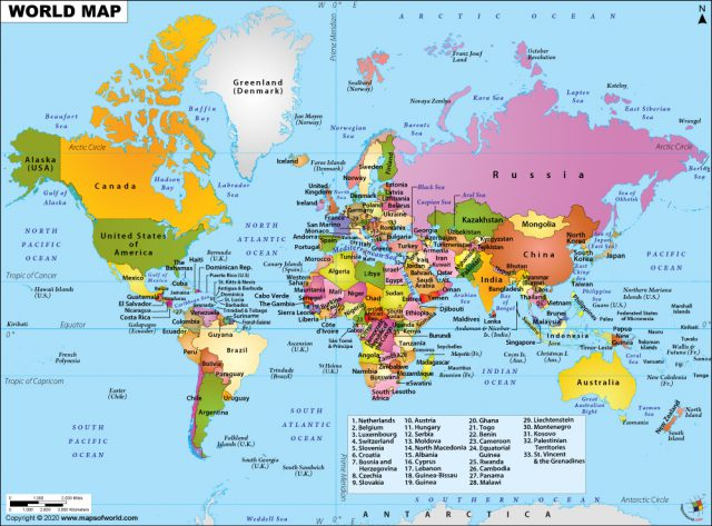 Political Map Of World