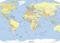 Political Map Of World: Political map of world from nationsonline 1