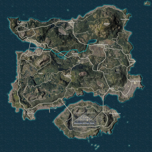 Pubg map from pubgmap 1