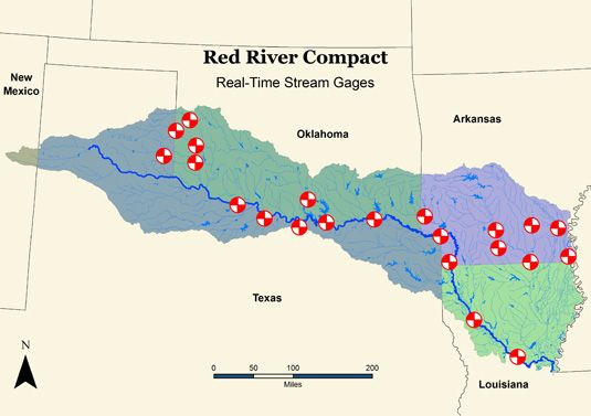 Red River Texas Map From Pinterest 2
