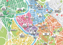 Rome Tourist Map: Rome tourist map from romawonder 1