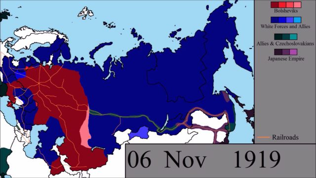 Russian civil war map from youtube 1