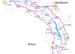 Sabine River Map: Sabine river map from sratx 1