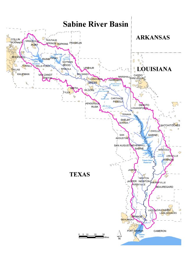 Sabine river map from sratx 1
