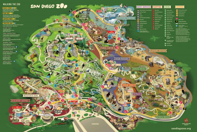 San diego zoo map 2020 from pinterest 3