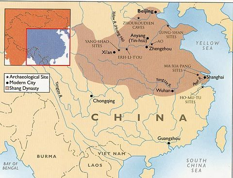 Shang Dynasty Map