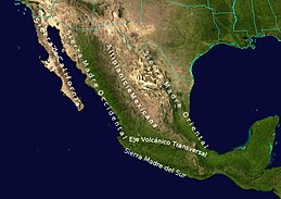 Sierra madre occidental map from en 1