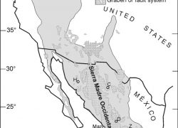Sierra madre occidental map from researchgate 2