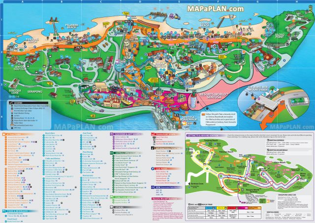 Singapore tourist map from mapaplan 1