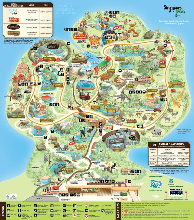 Singapore zoo map from pinterest 1