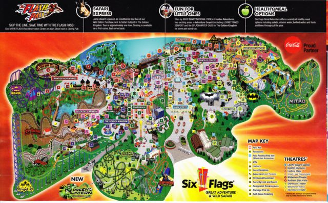 Six Flags Great Adventure Map