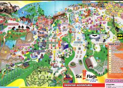 Six Flags Great Adventure Map: Six flags great adventure map from themeparkreview 2