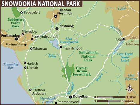 Snowdonia National Park Map
