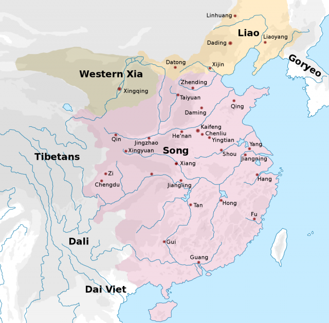 Song dynasty map from en 2
