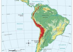 South America Physical Features Map: South america physical features map from pinterest 1