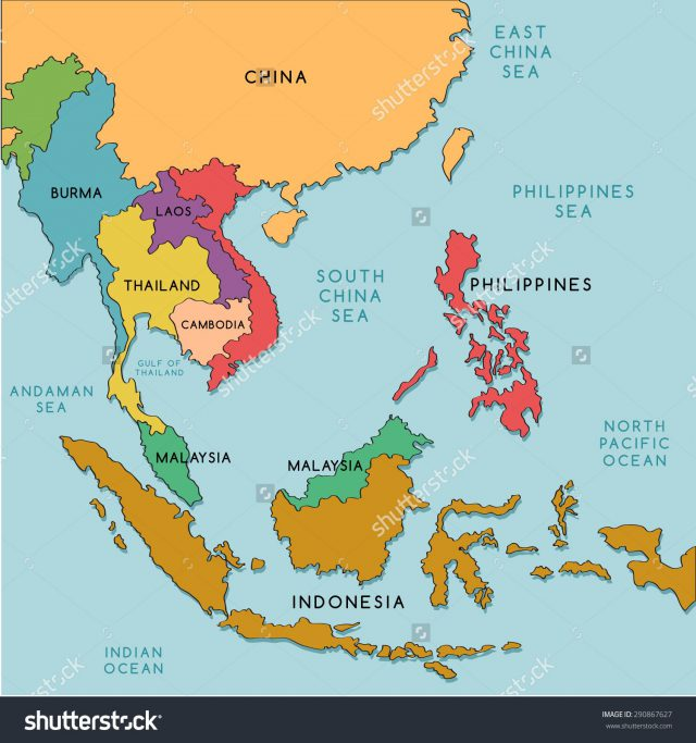 Southeast Asia On World Map