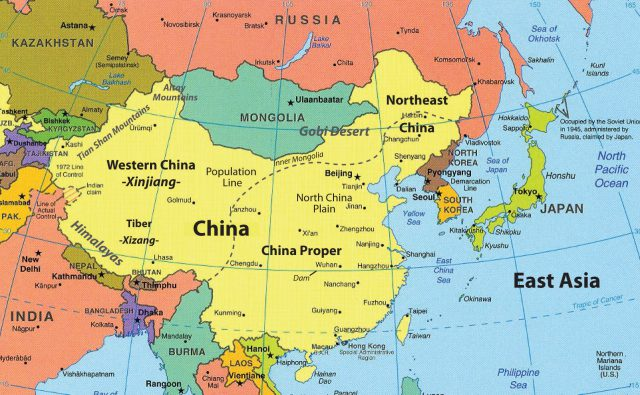 Southern And Eastern Asia Physical Features Map