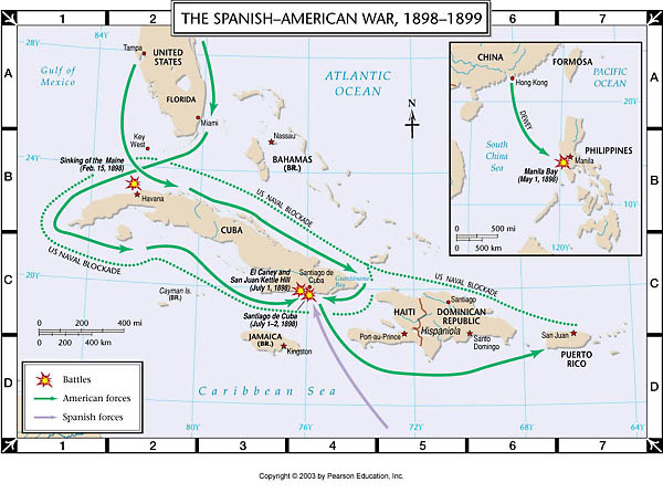 Spanish american war map from wps 1