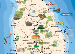 Sri Lanka Tourist Map: Sri lanka tourist map from srilankanholidaysdelhi 1