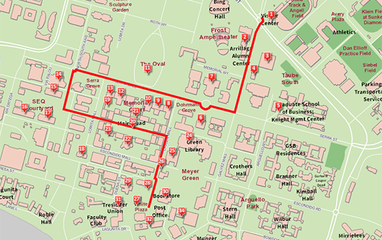Stanford Campus Map