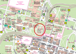 Stanford University Map: Stanford university map from biox 1