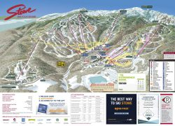Stowe Trail Map: Stowe trail map from onthesnow 1