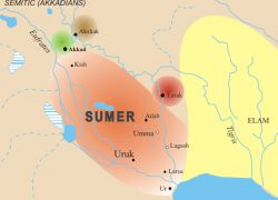 Sumer Map: Sumer map from commons 1