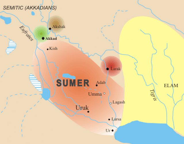 Sumer map from commons 1