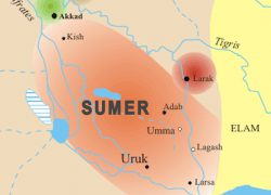 Sumer map from commons 10