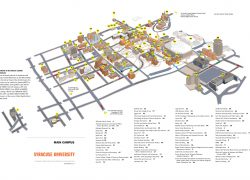 Syracuse University Map: Syracuse university map from maxwell 1