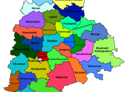 Telangana Political Map: Telangana political map from telangana 1