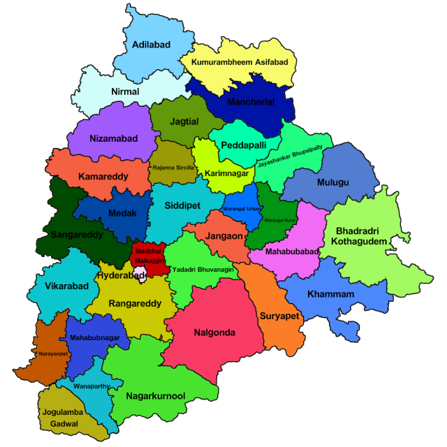 Telangana political map from telangana 1