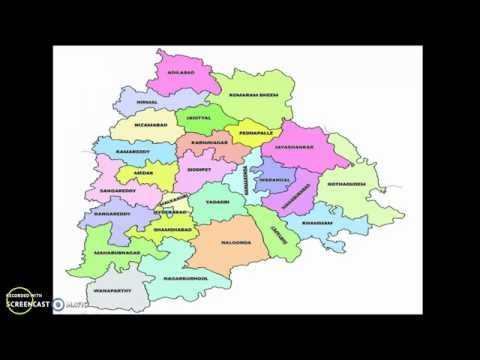 Telangana Political Map