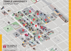 Temple University Map: Temple university map from sites 1