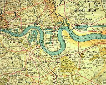 Thames River Map