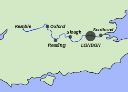 Thames River Map: Thames river map from en 1