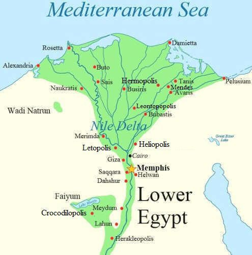 Thebes Egypt Map