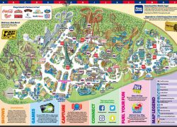 Theme Park Map: Theme park map from visitkingsisland 1