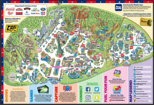 Theme park map from visitkingsisland 1