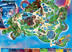 Thorpe Park Map: Thorpe park map from flickr 1