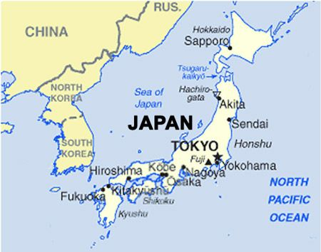 Tokyo on world map from pinterest 1