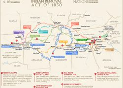 Trail Of Tears Map: Trail of tears map from britannica 1